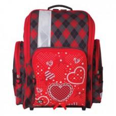 Ранец жесткокаркасный BRAUBERG, для начальной школы, девочка, Сердце, 18 литров, 36*26*14