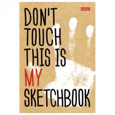 """Скетчбук, белая бумага 100 г/м2, 145х205 мм, 80 л., книжный твердый переплет, """"Don't Touch"""","""