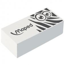 """Ластик MAPED (Франция) """"Pulse Technic Mini"""", 39х18х12,5 мм, белый, прямоугольный, синтетический каучук, 113050"""
