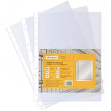 Папка-вкладыш с перфорацией  30мкм,  100шт OfficeSpace, А4, глянцевая