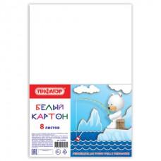 Белый картон А4 8л., STAFF, 200х283мм