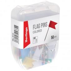 Кнопки силовые/флажки Berlingo, 50шт., ассорти, пласт. упак., европодвес