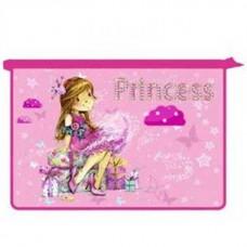 Папка для труда ОНИКС 2 отделения А4 молния сверху Принцесса с подарками пл
