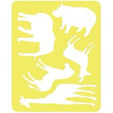 """Трафарет-раскраска контурный, Стамм """"Животные Африки"""""""