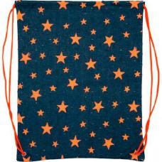 """Сумка д/обуви deVENTE 36*46см """"Denim"""" джинсовая ткань,оранжевые звезды,с фиксаторами"""