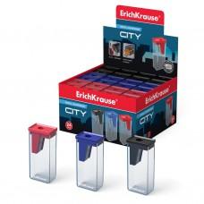 Пластиковая точилка ErichKrause® City с контейнером