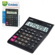 Калькулятор настольный CASIO GR-12-W (209х155 мм), 12 разрядов, двойное питание, черный