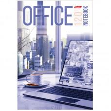 """Бизнес-блокнот А5 120л. Hatber """"Office"""", c поролоном в клетку"""