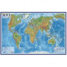 """Карта """"Мир"""" физическая Globen, 1:25млн., 1200*780мм, интерактивная"""