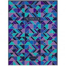"""Бизнес-блокнот А5 80л. Hatber """"Геометрия цвета"""", 5-ти цветный блок, мат. лам, 3D фольга"""