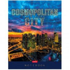 """Бизнес-блокнот А5 80л. Hatber """"Cosmopolitan city"""", 5-ти цветный блок, мат. лам, 3D фольга"""