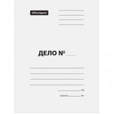 """Папка-обложка  """"Дело"""", картон немелованный, 440г/м2, белый, до 200л."""