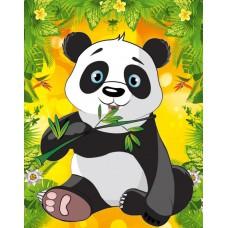 Набор для творчества Алмазная Мозаика (Детская) 14*18см ГРУП Картон (Частичная выкладка) Стразы-камешки Панда