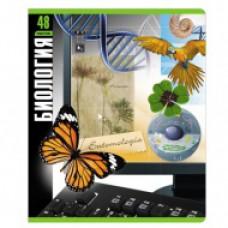 Тетрадь 48 листов, клетка, рисунок тематические - Биология