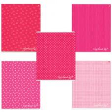 """Тетрадь 48 листов, АЛЬТ, клетка, сплошной лак, """"Fresh-розовая"""""""