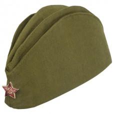 Пилотка Военная, металлическая красная звезда, размер 56 (универсальный)