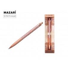 Ручка в футляре автоматическая MAZARI To Sparkle-2 1 0мм металл роз/ (золотистый корпус)