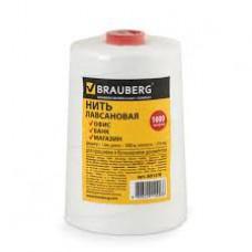 Нить BRAUBERG лавсановая для прошивки документов, диам. 1 мм, длина 1000м, в термопленке, ЛШ 210