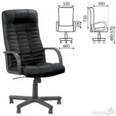 """Кресло офисное """"Atlant"""", кожа, черное SP-A"""