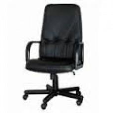 """Кресло офисное """"Менеджер"""", натур. кожа, черное"""