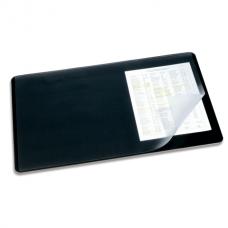 Коврик-подкладка настольный для письма DURABLE (Германия) c прозр. листом, 40х53см, черный