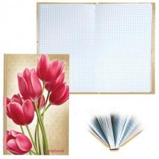 Блокнот BRAUBERG А5 135*206мм, 96л.Цветы твердая ламинированная обложка