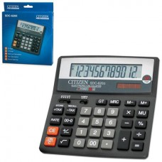 Калькулятор CITIZEN настольный SDC-620II, 12 разрядов