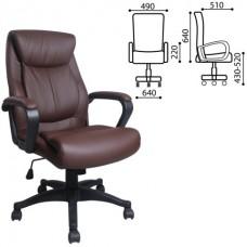 """Кресло офисное BRABIX """"Enter EX-511"""", экокожа, коричневое"""