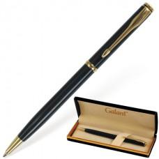 """Ручка подарочная шариковая GALANT """"Arrow Gold Blue"""", корпус темно-синий, золотистые детали, пишущий узел 0,7 мм, синяя"""