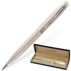 """Ручка подарочная шариковая GALANT """"Royal Platinum"""", корпус серебристый, хромированные детали, пишущий узел 0,7 мм"""