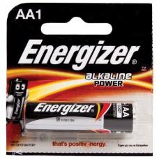Батарейка ENERGIZER Power, AA LR6, 1шт., АЛКАЛИНОВАЯ, в блистере, 1,5 В (работает до 10 раз дольше)