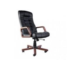 Кресло ATLANT EX(SPA 31) натуральная кожа деревянные подлокотники