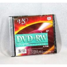 К/диск DVD+RW 1шт.VS 4.7Gb 4x.Slim
