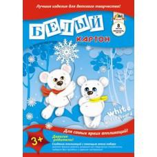 Картон белый А4. АППЛИКА. 8л. Два медведя