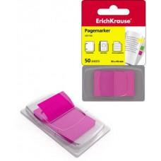 Пластиковые флажки с клеевым краем ErichKrause® в диспенсере 25х43 розовые