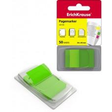 Пластиковые флажки с клеевым краем ErichKrause® в диспенсере 25х43 зеленые