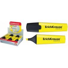 Текст-маркер Erich Krause скош. 5мм. V-12. желтый