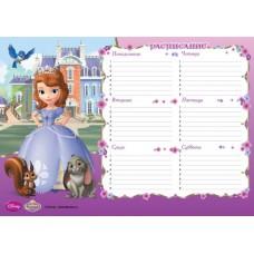 расписание уроков A4 Принцесса София
