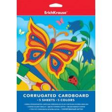 Гофрированный картон ErichKrause® А4 5 листов/5 цветов
