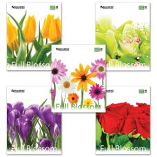Тетрадь 96л. BRAUBERG кл, обл.мел.карт., цветы (5 видов)