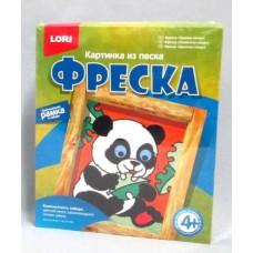 """Набор для творчества Цветной Песок LORI. Картина из песка. """"Крошка панда"""""""