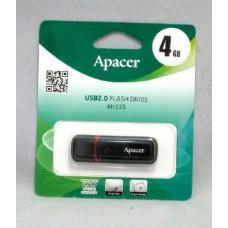 Флэш-драйв на 4GB. APACER USB. Color. черн. + красный корпус AH-333