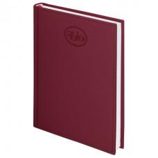 """Ежедневник датированный 2019, А5, BRAUBERG """"Favorite"""", фактурная кожа, бордовый, 138х213 см, 129076"""