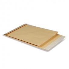 Конверт-пакет С4 объемный, 229х324х40 мм, из крафт-бумаги, с отрывной полосой, на 250 листов, 381227  комплект 25 штук