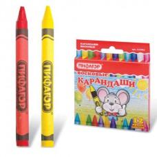 Восковые карандаши ПИФАГОР, 12 цветов 222962