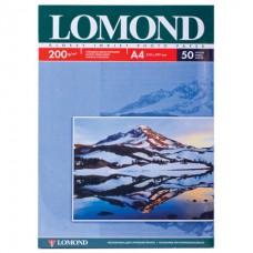 Фотобумага LOMOND д/струйной печати А4, 200г/м, 50л., односторонняя, глянцевая