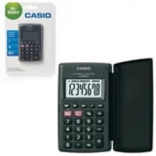 Калькулятор CASIO карманный HL-820LV-BK-S, 8 разрядов, питание от батарейки,104х63х7,4 мм, блистер