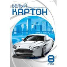 Картон белый мелованный А4 ХАТБЕР 8л. NN. Белая машина