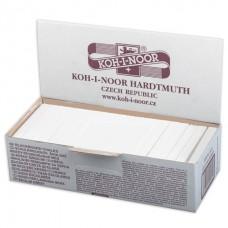 Мел белый KOH-I-NOOR (Чехия), набор 100 шт., квадратный, диаметр 12 мм.