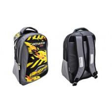 Рюкзак BG Start 40см. Power car. светоотраж. черный+серый+желтый